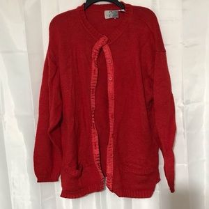 Sweaters - Red cardigan size 26